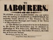 To Labourers poster 1840