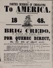 To Parties Desirous of Emigrating to America 1848