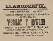 Ysgoldy y Bwrdd Llandderfel 1890