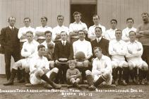 Team photo of Swansea Town, 1912-1913
