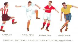 Drawing of team strips, 1959-1960