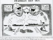 Newspaper cartoon, celebrating Swansea's...