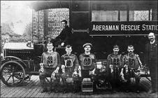 Five man 'Squad', Aberaman Mines Rescue Team -...