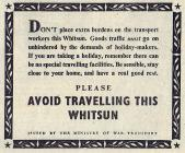 Avoid Travelling This Whitsun - 1941