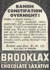 Brooklax Chocolate Laxative - 1940