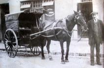 Cart Bara, Cyflenwi yng Lewis Street - c.1912