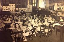 Sewing Class, Penboyr CP school 1950's