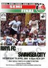 Football Programme - Rhyl F.C. versus Swansea...
