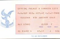 Tocyn Pêl-droed, Crystal Palace erbyn Swansea...