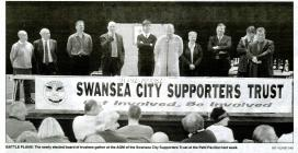 Newspaper article about Swansea City Football Club