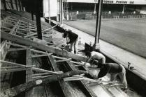 Workers at the Vetch Field, Swansea