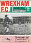 Football Programme - Wrexham versus Swansea City