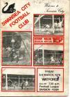 Football Programme - Swansea City versus Watford