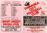Football Programme - Swansea City versus West...