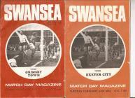 Swansea City Football Programmes from 1970