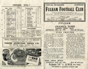 Rhaglen Pêl-droed Fulham erbyn Swansea Town