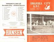 Rhaglen Pêl-droed, Swansea City erbyn Bristol...