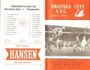 Rhaglen Pêl-droed, Swansea City erbyn Plymouth...