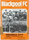Football Programme  - Blackpool versus Swansea...