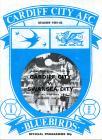 Football Programme  - Cardiff City versus...