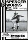 Football Programme  - Spencer Works F.C. versus...