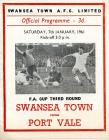 Football Programme  - Swansea Town versus Port...