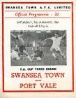 Football Programme  - Swansea Town versus Port...