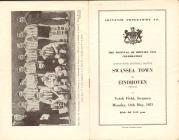 Football Programme  - Swansea Town versus...