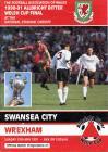 Football Programme  - Swansea City versus Wrexham