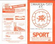Football Programme  - Swansea City versus...