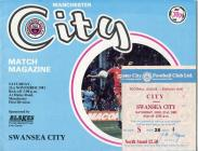 Ticket and Football Programme  - Manchester...