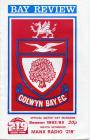 Football Programme  - Colwyn Bay versus Swansea...