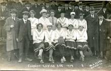 Ffotograff o dîm pêl-droed Cardiff Ladies A.F.C.