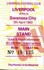 Ticket for Liverpool F.C. versus Swansea City,...