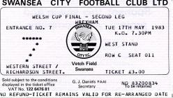 Ticket for Swansea City versus Wrexham A.F.C. -...