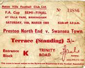 Tocyn Preston North End erbyn Swansea Town, 1964