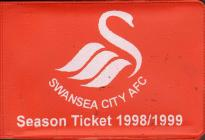 Swansea City A.F.C. Season Ticket 1998-99