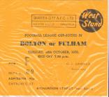 Ticket for Swansea City versus Bolton or Fulham