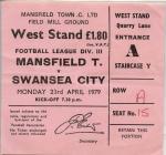 Tocyn Mansfield Town erbyn Swansea City