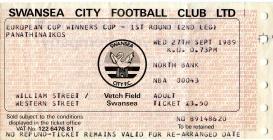Ticket for Swansea City versus Panathinaikos