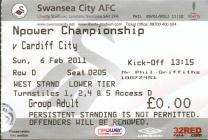 Tocyn Swansea City erbyn Cardiff City