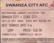 Ticket for Swansea City versus Stoke City