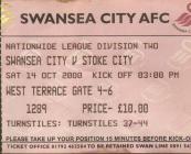 Tocyn Swansea City erbyn Stoke City