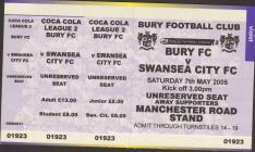 Tocyn Bury erbyn Swansea City
