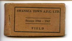 Swansea Town A.F.C. Season Ticket 1966-67