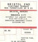 Tocyn Bistol Rovers erbyn Swansea City