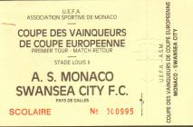 Ticket for A.S. Monaco versus Swansea City