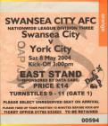 Tickets for Swansea City versus York City