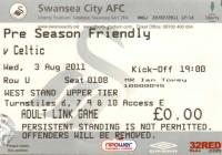 Ticket for Swansea City versus Celtic