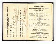 Tocyn y Tymor Swansea City, 1925-26